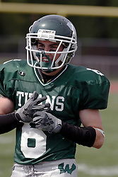 09 September 2006  Titan Nick Iovino..In the first ever football competition between the Olivet Comets and the Illinois Wesleyan Titans, the Titans strut off the field with a 21- 6 victory. .Game action took place at Wilder Field on the campus of Illinois Wesleyan University in Bloomington Illinois.
