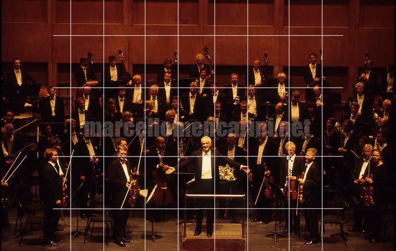 Conductor Carlos Kleiber and the Orchester des Bayerischen Rundfunk, Cagliari, Teatro Lirico, February 1999 - © Marcello Mencarini