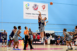 Marcus Delpeche of Bristol Flyers contends for the aerial ball - Photo mandatory by-line: Ryan Hiscott/JMP - 06/12/2019 - BASKETBALL - SGS Wise Arena - Bristol, England - Bristol Flyers v Sheffield Sharks - British Basketball League Championship