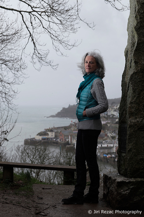 UK ENGLAND FOWEY 19FEB15 - Writer Tatiana De Rosnay explores Fowey, Cornwall, England. Fowey, a small fishing and harbour village was the living place of famous English writer Daphne Du Maurier and many of her novels are based here.<br /> <br /> jre/Photo by Jiri Rezac<br /> <br /> &copy; Jiri Rezac 2015