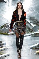 Tilda Lindstam (IMG New York) walks the runway wearing Rodarte Fall 2015 during Mercedes-Benz Fashion Week in New York on February 17, 2015