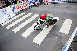 Ashleigh Moolman Pasio at UCI Road World Championships Elite Women's Individual Time Trial 2017 a 21.1 km time trial in Bergen, Norway on September 19, 2017. (Photo by Sean Robinson/Velofocus)