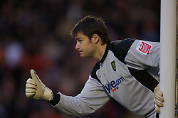 Blackpool, England - Saturday, January 27, 2007: Norwich City's goalkeeper David Marshall during the FA Cup 5th Round match at Bloomfield Road. (Pic by David Rawcliffe/Propaganda)