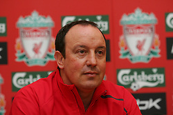 LIVERPOOL, ENGLAND - THURSDAY, JANUARY 5th, 2006: Liverpool's manager Rafael Benitez at a press conference at Melwood Training Ground. (Pic by David Rawcliffe/Propaganda)