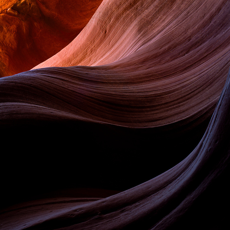 Details on the walls of the canyon almost resemble waves