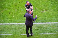 Claude PUEL envoye en tribune pas Mikael LESAGE  - 12.04.2015 - Reims / Nice - 32eme journee de Ligue 1 <br />Photo : Dave Winter / Icon Sport