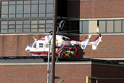 22 OCT 2005 air ambulance service helicopter arrives at Bromenn Regional Medical Center in Normal IL