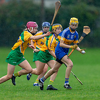 Newmarket-on-Fergus's Rachel Kelleher gets away from the Inagh/Kilnamona defence
