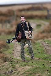 Historian Ashley Cowie at the 'The Devil's Gold' in Dirlot, Caithness. He is doing a seven part series for The Scottish Sun on Scotland's treasure hunts at the end of April..©Michael Schofield.