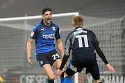 Swindon Town defender Raphael Rossi Branco (29) scores a goal and celebrates (3-2) during the EFL Sky Bet League 1 match between Milton Keynes Dons and Swindon Town at stadium:mk, Milton Keynes, England on 30 December 2016. Photo by Dennis Goodwin.
