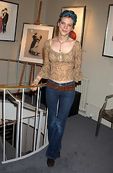 Comedian FRANCESCA MARTINEZ at a private view of fashion designer Lindka Cierach's Couture Dresses drawn by Trudy Good held at the Belgravia Gallery, 45 Albemarle Street, London on 21st September 2005.<br /><br />NON EXCLUSIVE - WORLD RIGHTS