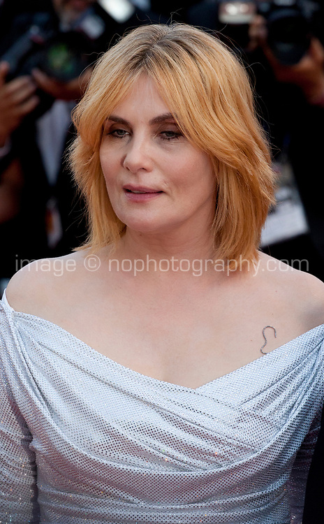 Actress Emmanuelle Seigner at Based on a True Story (D'apres Une Histoire Vraie) gala screening at the 70th Cannes Film Festival Saturday 27th May 2017, Cannes, France. Photo credit: Doreen Kennedy