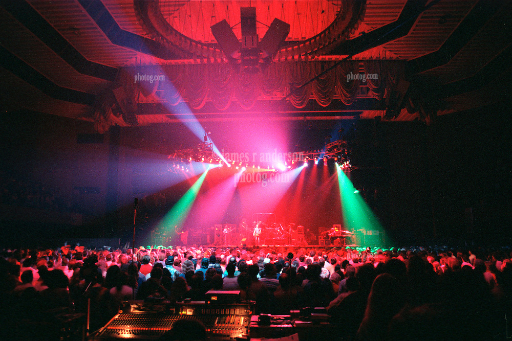 """The Grateful Dead performing their New Years Concerts Run at the San Francisco Civic Auditorium, 28 December 1984 into 1 January 1985. This is from the second night, a typical """"Lighting Look"""" Shot. Shot on Color Negative Film, Kodak CM135-36."""