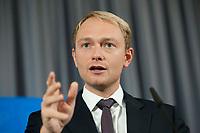 11 OCT 2010, BERLIN/GERMANY:<br /> Christian Lindner, FDP Generalsekretaer, waehrend einer Pressekonferenz, Thomas-Dehler-Haus<br /> IMAGE: 20101011-01-029