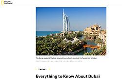 National Geographic; Al Qasr Hotel, Dubai