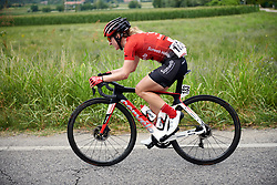 Leah Kirchmann (CAN) solo during Stage 7 of 2019 Giro Rosa Iccrea, a 128.3 km road race from Cornedo Vicentino to San Giorgio di Perlena, Italy on July 11, 2019. Photo by Sean Robinson/velofocus.com