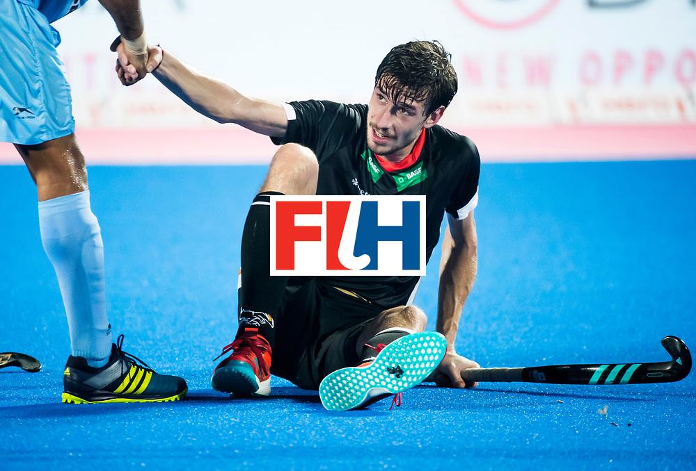 BHUBANESWAR - Hockey World League finals Match for bronze , Germany v India (1-2). Disappointed German player Florian Fuchs (Ger).  COPYRIGHT KOEN SUYK