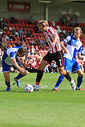 Harry Pell during the Pre-Season Friendly match between Cheltenham Town and Bristol Rovers at Whaddon Road, Cheltenham, England on 25 July 2015. Photo by Antony Thompson.