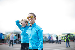 Ashleigh Moolmann-Pasio (RSA) of Cervélo-Bigla Cycling Team enjoys the seaside atmosphere before the start of the Aviva Women's Tour 2016 - Stage 1. A 138.5 km road race from Southwold to Norwich, UK on June 15th 2016.