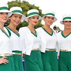 The Rolex girls.<br /> <br /> Round 1 - 3rd day of the 2017 Formula 1 Rolex Australian Grand Prix at The circuit of Albert Park, Melbourne, Victoria on the 25th March 2017.<br /> Wayne Neal | SportPix.org.uk