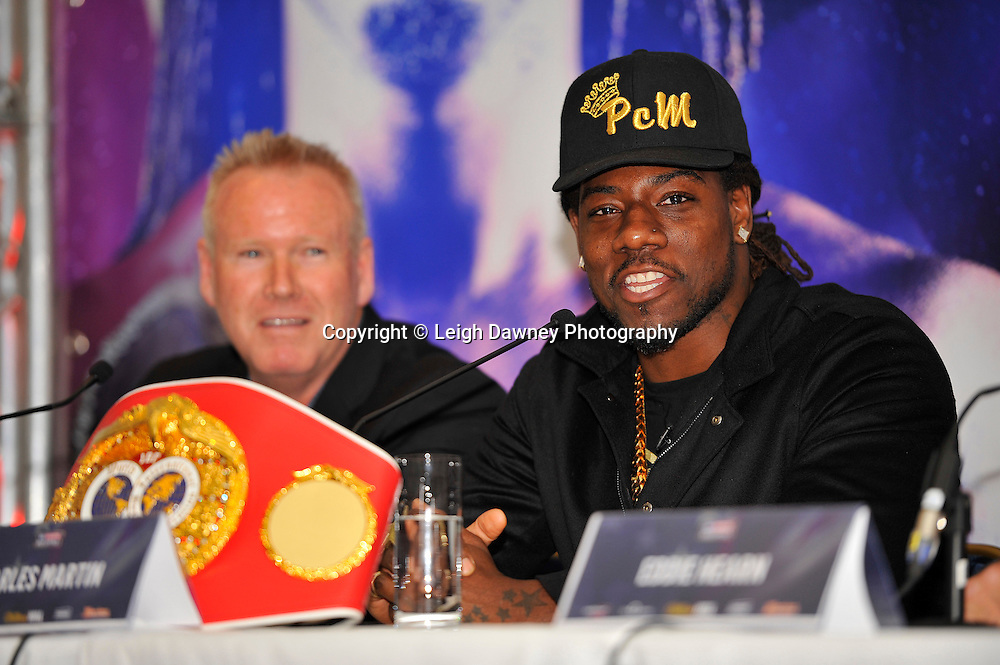 Charles Martin speaking during the press conference at the Dorchester Hotel, Park Lane, London on the 19th February 2016 ahead of his IBF World Heavyweight Title fight against Anthony Joshua. Photo credit: Leigh Dawney
