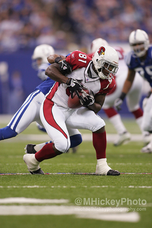 Arizona Cardinals wide receiver Anquan Boldin seen during action against the Indianapolis Colts Jan 1, 2006. The Colts defeated the Cardinals 17-13.
