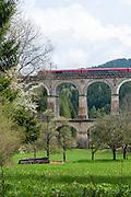 Viadukt Kalte Rinne, UNESCO Welterbestätte Semmeringeisenbahn, Steiermark, Österreich |  Viaduct Kalte Rinne, UNESCO World Heritage Site Semmering Railway, Styria, Austria