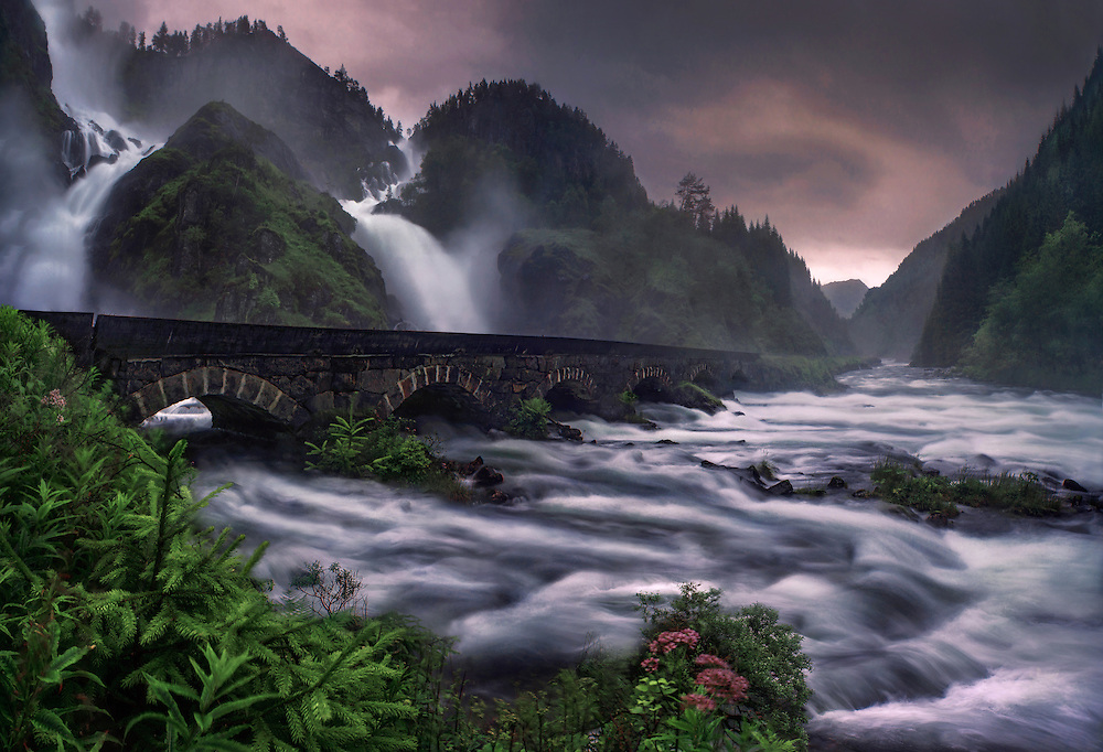 latefossen, oppland, norway, waterfall, odda, mountains, max rive
