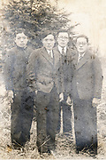 students group portrait Japan ca 1940s