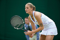 LONDON, ENGLAND - Thursday, June 27, 2013: Karolina Pliskova (CZE) during the Ladies' Singles 2nd Round match on day four of the Wimbledon Lawn Tennis Championships at the All England Lawn Tennis and Croquet Club. (Pic by David Rawcliffe/Propaganda)