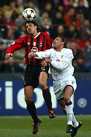 Milan 08-03-2005<br />Champions League 2004-2005<br />Milan Manchester United<br />nella  foto Crespo Heinze<br />Foto Snapshot / Graffiti