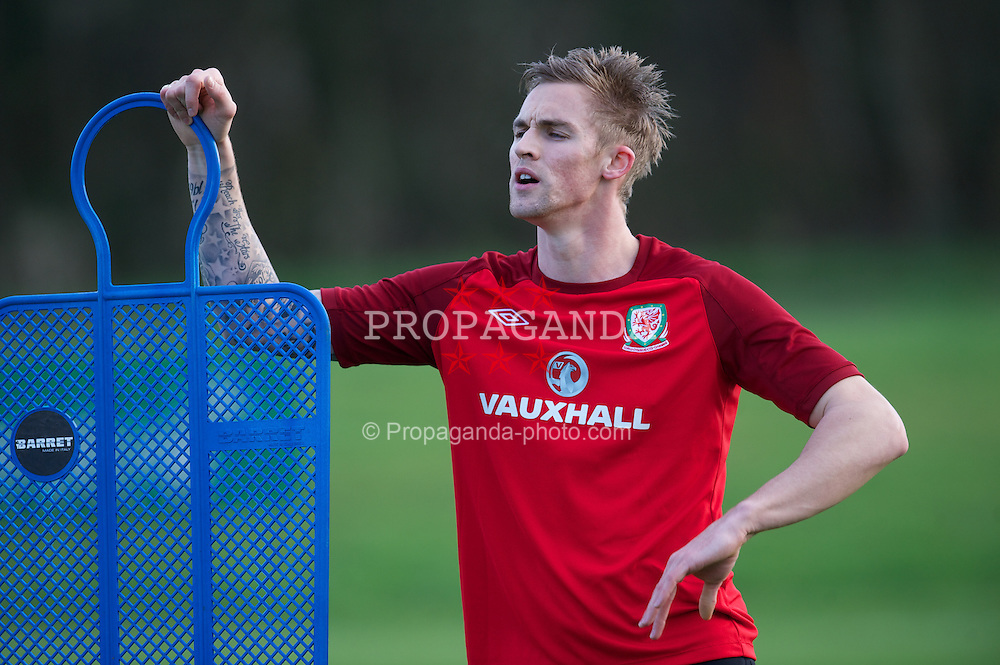 CARDIFF, WALES - Monday, February 4, 2013: Wales' Jack Collison during a training session at the Vale of Glamorgan Hotel ahead of the International Friendly against Austria. (Pic by David Rawcliffe/Propaganda)