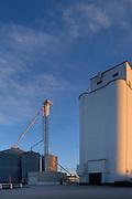Grain elevator in Cashion, Oklahoma.