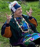 Inez Swenson, 89, waves to friends during the annual Mardi Gras parade March 6, 2011 in Grand Isle, La. The island was heavily impacted by the Deepwater Horizon oil spill April 20, 2010 and continues to recover. (Photo by Carmen K. Sisson)
