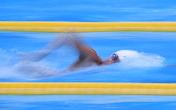 JAKARTA, Aug. 19, 2018  Li Bingjie of China competes during the Women's 1500m Freestyle Final in the 18th Asian Games in Jakarta, Indonesia, Aug. 19, 2018. Wang Jianjiahe of China won the gold medal. (Credit Image: © Li Xiang/Xinhua via ZUMA Wire)