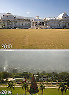 After the earthquake in Haiti, one of the symbols of its destruction was the crumbled presidential palace. The palace is long gone, but now there is a Christmas tree instead of the palace that no one know when it will rebuild.