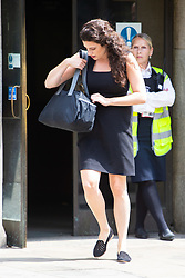 XXXX leaves the Old Bailey after giving evidence in the trial of Jack Shepherd from Abergavenny, Wales who is absent from his trial on charges of manslaughter following the death of Charlotte 'Charli' Brown, 24, who died following the capsizing of his speedboat during a midnight cruise on the River Thames in 2015. London, July 04 2018.