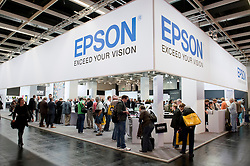 Epson stand at Photokina digital imaging trade show in Cologne Germany
