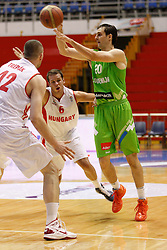 Domen Lorbek of Slovenia basketball national team in action against Hungary during Trofej Beograd tournament third place match at Pionir arena  in Belgrade, Serbia on August 9th 2012.Foto: Marko Metlas / MN Press / Sportida.com