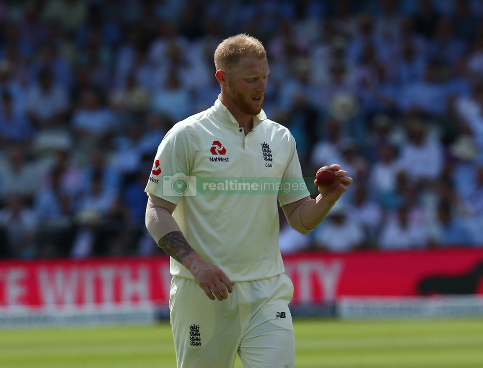 July 7, 2017 - London, United Kingdom - England's Ben Stokes .during 1st Investec Test Match between England and South Africa at Lord's Cricket Ground in London on July 06, 2017  (Credit Image: © Kieran Galvin/NurPhoto via ZUMA Press)