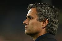 Photo: Chris Ratcliffe.<br /> Barcelona v Chelsea. UEFA Champions League. 07/03/2006.<br /> Jose Mourinho