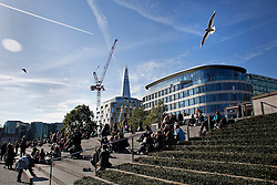 © Licensed to London News Pictures. 30/10/13. London, UK. A view of the skyscrapers on a sunny autumn day in London. Photo credit : Andrea Baldo/LNP