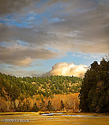 evening at Big Beef Creek during low tide at the Hood Canal of Puget Sound, Washington, USA