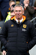 Hull City Manager Nigel Adkins  during the EFL Sky Bet Championship match between Hull City and Cardiff City at the KCOM Stadium, Kingston upon Hull, England on 28 April 2018. Picture by Mick Atkins.