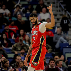 Dec 5, 2018; New Orleans, LA, USA; New Orleans Pelicans forward Anthony Davis (23) during the second half against the Dallas Mavericks at the Smoothie King Center. Mandatory Credit: Derick E. Hingle-USA TODAY Sports