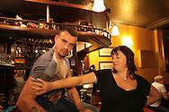 Adam Clifford at a Class War meeting in a London pub Class War