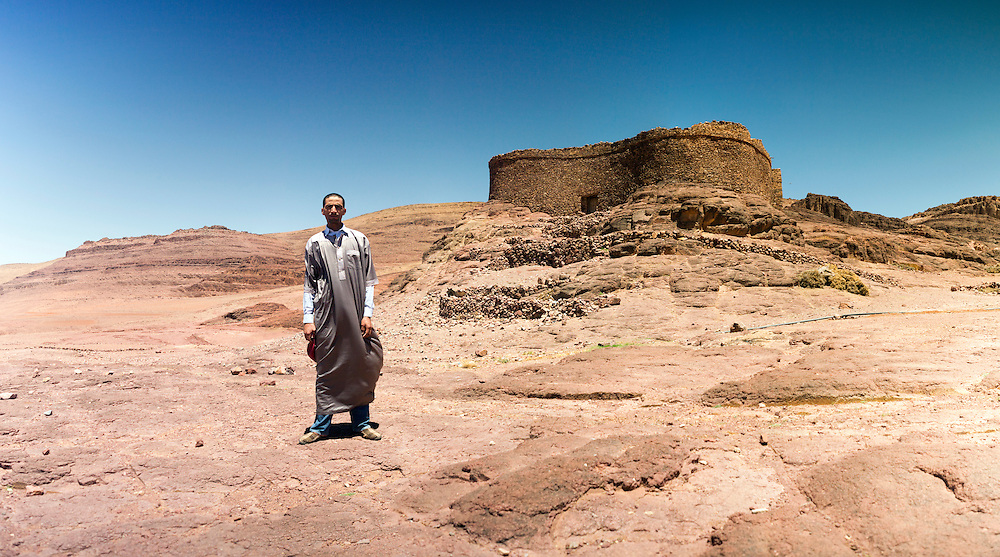 Panoramic portrait of the Amtoudi Granary (Agadir nTellah), Taliouine province of Southern Morocco, 2016-05-25.&nbsp;<br />
