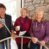 Mary Curtain, Bridie Neville and Maddy Pain in the pump house Opening of restored Spa Well in Lisdoonvarna