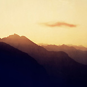 Sunrise in the Swiss Alps (San Gottardo)<br />