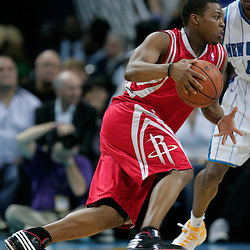 16 March 2009: Houston Rockets guard Kyle Lowry (7) drives with the ball during a 95-84 loss by the New Orleans Hornets to the Houston Rockets at the New Orleans Arena in New Orleans, Louisiana.